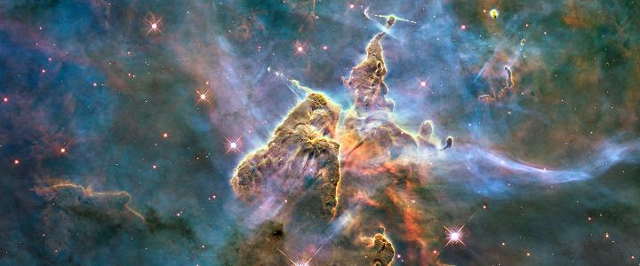 """Mystic Mountain"" Hubble telescope photo by NASA"